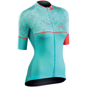 Northwave Verve 3 Jersey SS Women light green/lobster orange